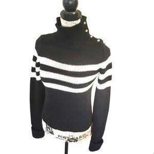 Zara Knit Turtleneck Embellished Sweater Size S